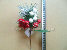 New arrival Christmas decorative christmas berry and holly leaf pick