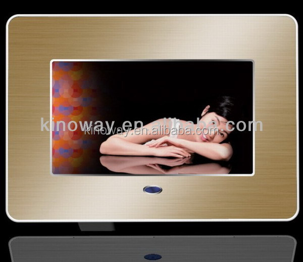 "2014 promotional 7"" lcd digital photo frames, video pictures frames, electronic photo frame for advertising"