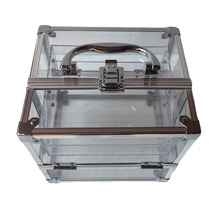 Professional Factory Supply Portable Aluminum Cosmetic Case Aluminum Trolley Jewelry Case