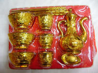 Teapot Golden kitchen tools, gold ingots and bars , good wealth for dead people