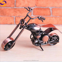 Home decorate metal craft 3d motorbike autocycle motorcycle