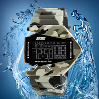 Top Luxury Brand SKMEI 0817 5ATM Waterproof Aircraft LED Watches Outerdoor Camouflage Sports Watches Men's cool Relojs Watches