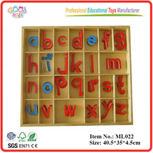 Wholesale Montessori Material Arabic Educational Toys,Small Movable Alphabet,Wood