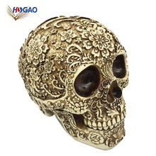 China import items decor cheap OEM ODM heads resin skull for home