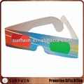 3D paper glasses with red green lenses