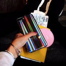 Radian Phone Case for iPhone 8 7 6 6S Plus Cases Laser Shining Mirror Reflect Light Ray Soft Phone Cover