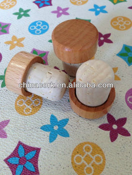 Cork Stopper With Wooden Cap
