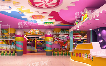 Candy Indoor Them Park Decoration Design