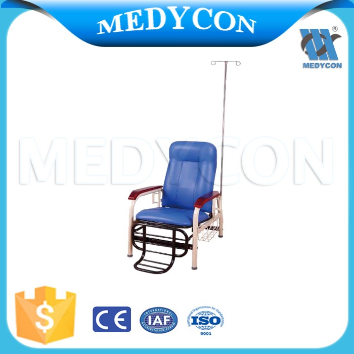 BDEC103 Hot sale back adhustable medical infusion chair with iv pole