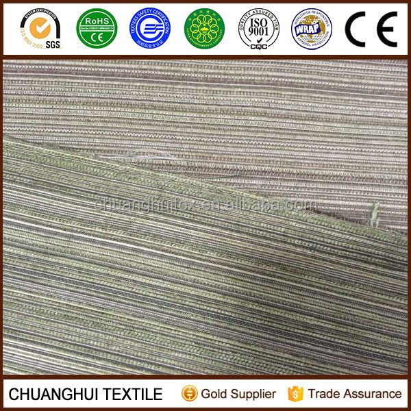 STOCK ! LOWER PRICE chenille stripe fabric for cushion cover ,sofa faric chenille fabric