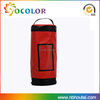 Round Red color good material Waterproof bag dry bag with pvc coated handbag with zipper top closure
