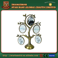 New design family tree shape metal photo frame