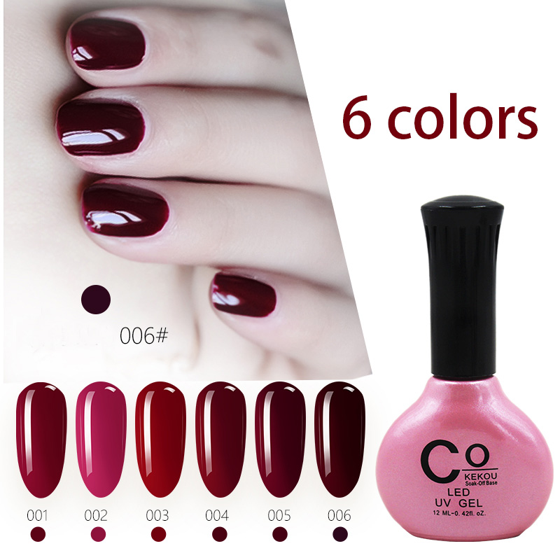FY045 CoKEKOU summer cherry nail jam red nail polish dark red color wine red wine nail polish durable