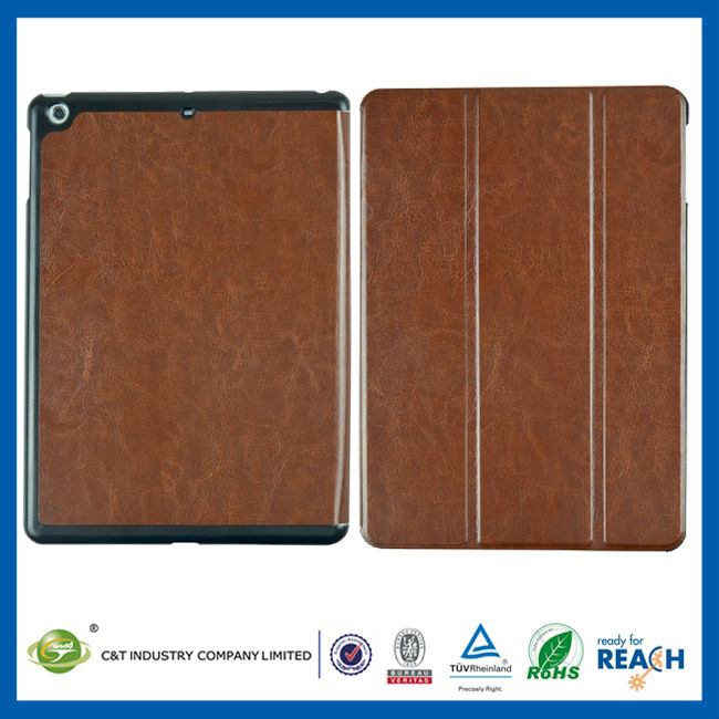 C&T 360 Rotating flip leather new case for ipad air