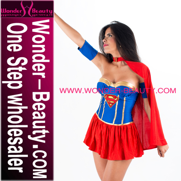 Sexy Nude Costumes, High Quality Superhero Superwomen Costume For Female