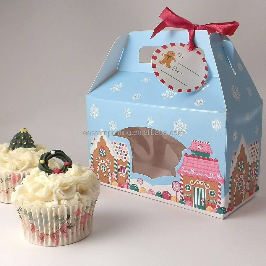 Wholesale cupcakes clear bakery pastry brown kraft paper