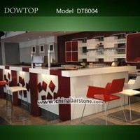 High quality white simple design kitchen bar counter furniture
