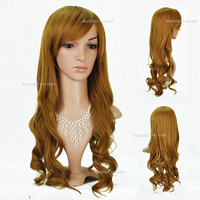 Beauties Factory Synthetic Extra Long Wave / Curly Cosplay Blonde Brown Full Hair Wig 1932G