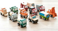 New Arrival Children Educational Wood Toys Japan Export High Quality Mini Wooden Cars 12 piece/lot