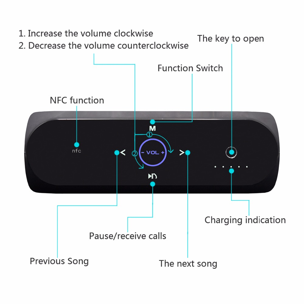 2017 big sound touchpad Bluetooth speaker for wholesales