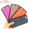 Exotic leather cell phone case for Iphone 7 luxury genuine python leather phone cover for i7 plus wholesale