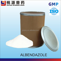 Alibaba good effect health products pharmaceutical raw material albendazole