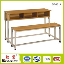School furniture 3 person Student Study Desks with Chair for Primary School