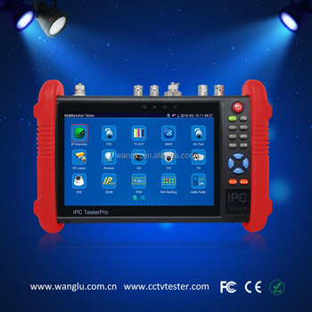New 7 inch TFT-LCD touch screen AHD /TVI/ CVI camera tester