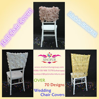 made in sinofur quality fancy half back chair covers