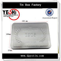 Classical metal tin rectangle tin case for packing