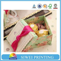 High quality cheap bride and groom design wedding paper candy boxes