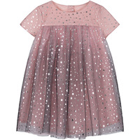 high end quality brand boutique kids clothing girl princess party dress bling bling star print children tulle girls's dresses