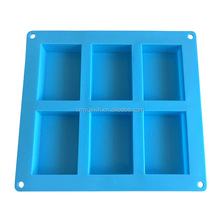 Blue color handmade silicone bar soap mold