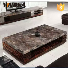 Yinska madera marble top coffee table