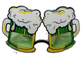 Oktoberfest mug glasses eye glasses cheers party beer cup party glasses