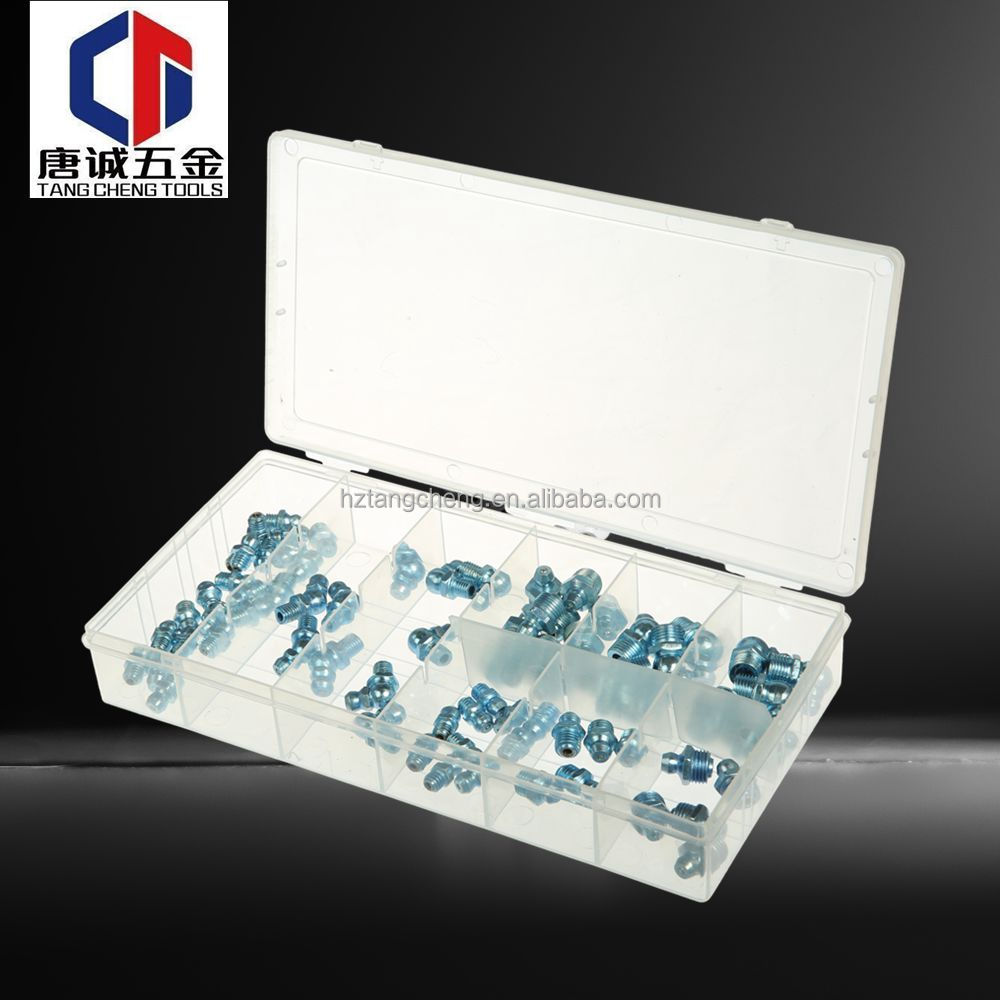 High Pressure Mining Machine Grease Valve Nipple Fitting Assortment With Different Size