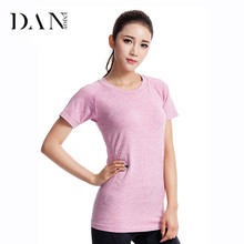 Woman Fitness Wear Custom Slim Fit Gym Clothes Ladies Seamless Training T shirt