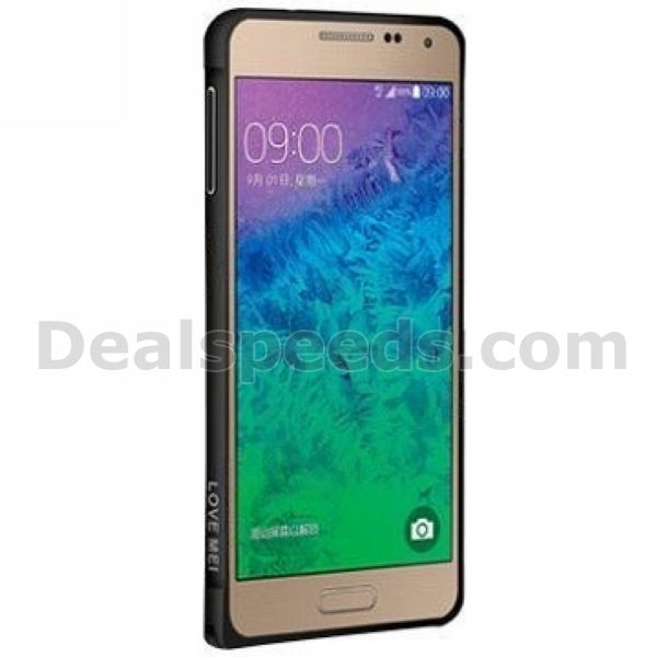 Fashion Ultra-thin Design LOVE MEI Curved Metal Bumper Hard Case for Samsung Galaxy Alpha SM-G850F SM-G850A