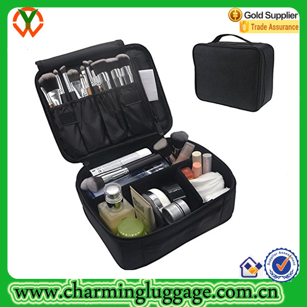 Professional Custom Polyester Cosmetic Bag Make Up Case