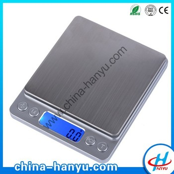 HY-2000 Best sell ce digital pocket scale working with 2 dry batteries