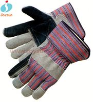 China supplier knit wrists leather motor bike gloves