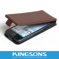 High Quality PU Leather For 2 Foldable IPHONE 5 Case