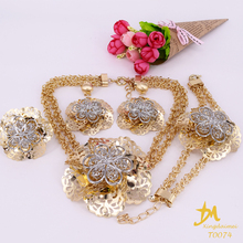 wholesale African jewelry fashion 18K gold plating women jewelry set T0074