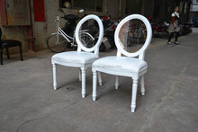 interchange acrylic back louis white chair for wedding XD1003-2