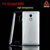 Unique device phone case for coolpad 8681 cover ,Flexible clear crystal plastic back case for coolpad 8681