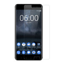 2017 top sell promotional products transparent tempered glass screen protector for NOKIA 6