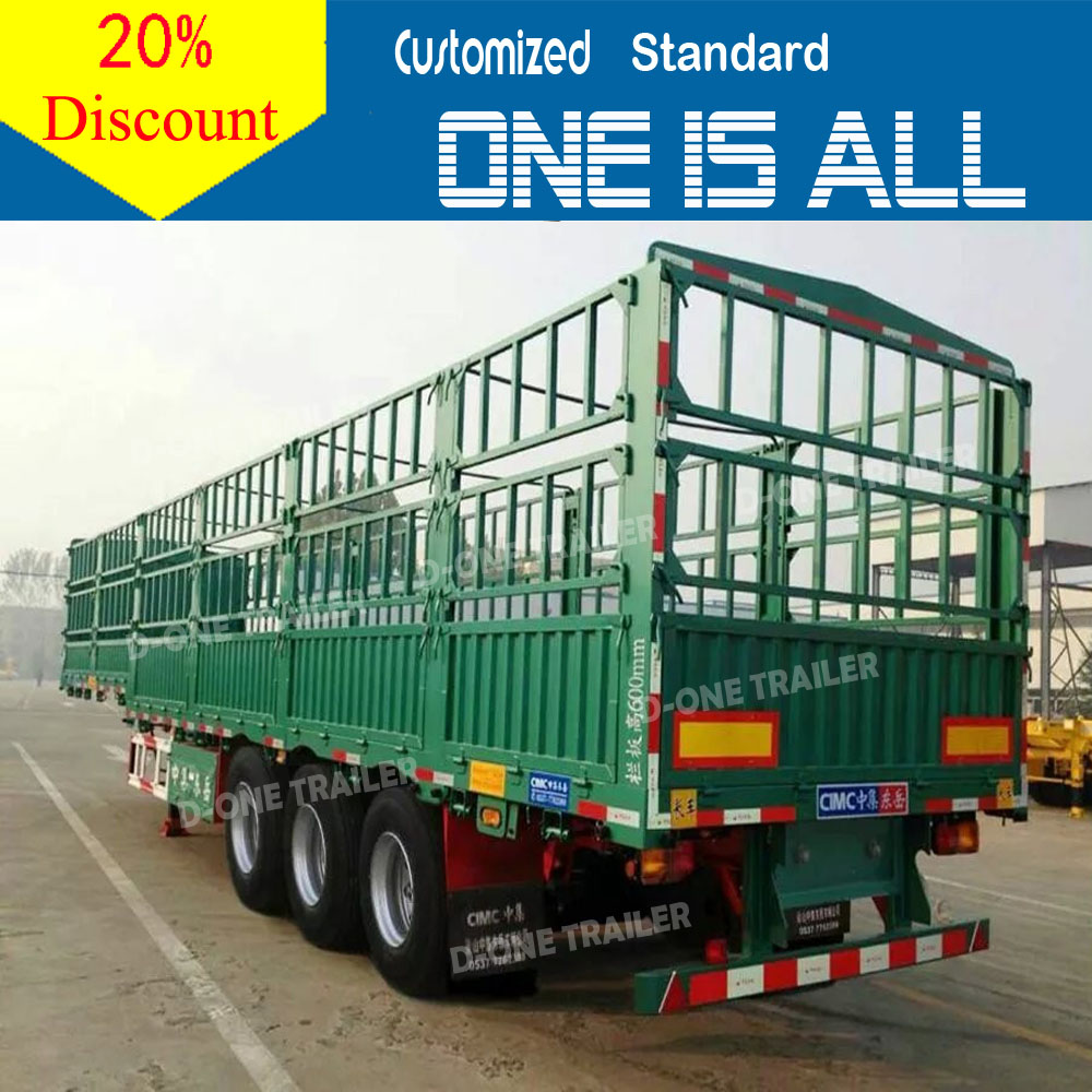 China supplier D-one brand supply tri-axle cheap steel bike / motorbike cargo trailers for sale