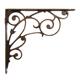 Vintage Corner Triangle Iron Shelf Bracket L Metal Bracket Industrial Decorative