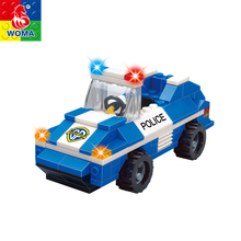 police station brick toys plastic educational building blocks