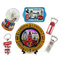 London Tower Souvenir Customized Plate Charms Magnet Keychain England Snowballs London Souvenirs